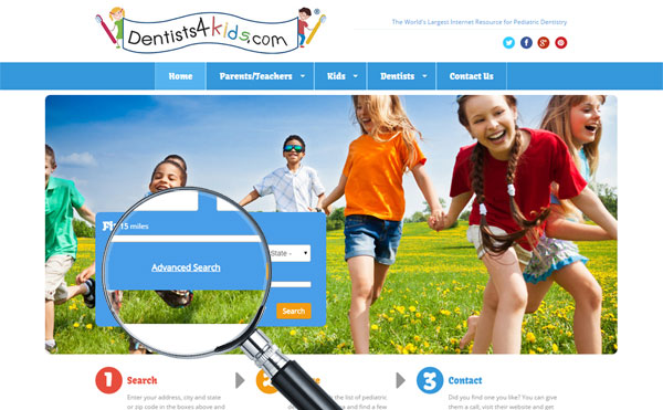 Dentists4kids.com Includes Search by Services, Insurance Plans