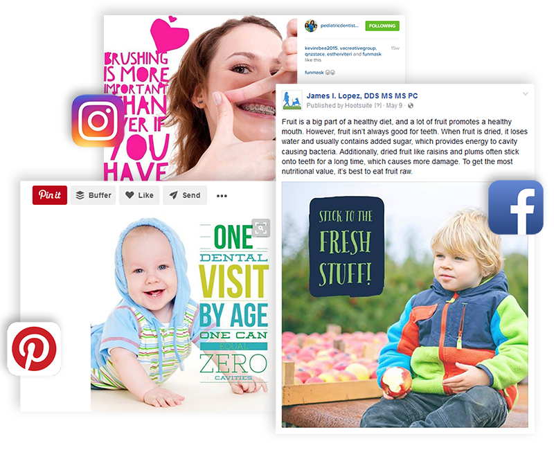 Engaging Social Media Posts for Pediatric Dentists on Facebook, Instagram and Pinterest