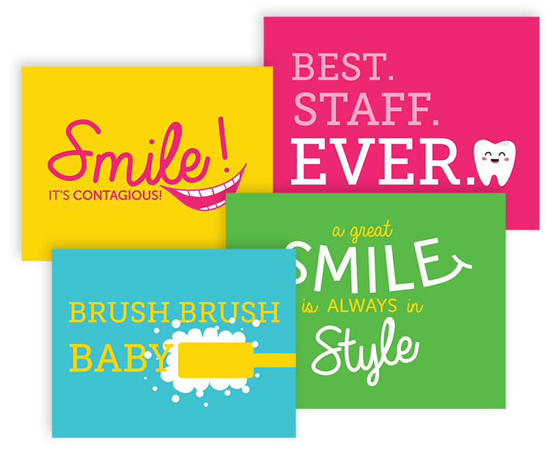 Social Media Signs for Engaging Patients in Pediatric Dentist Offices