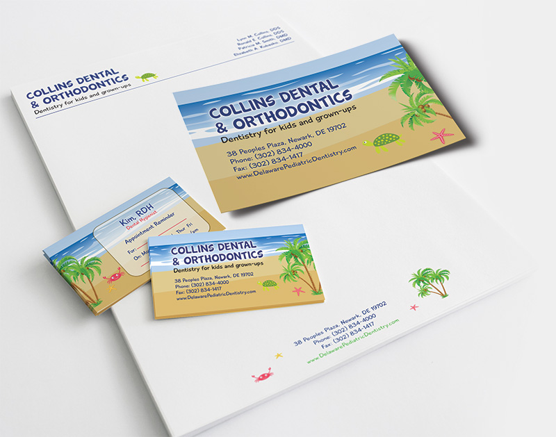 Dr. Collins Print Marketing and Branding with Smile Savvy for Pediatric Dentists