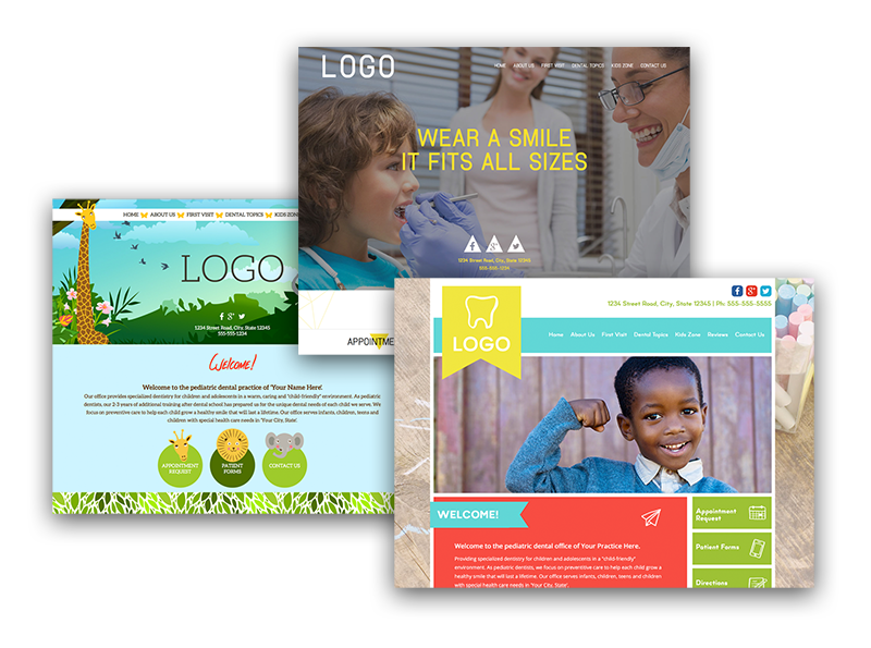 Customized Websites for Pediatric Dentists