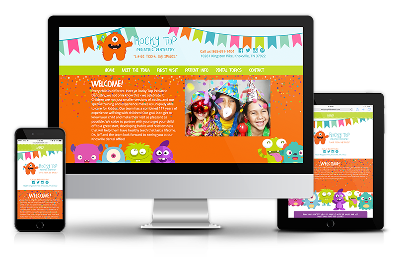 Responsive Website Design for Pediatric Dentists from Smile Savvy