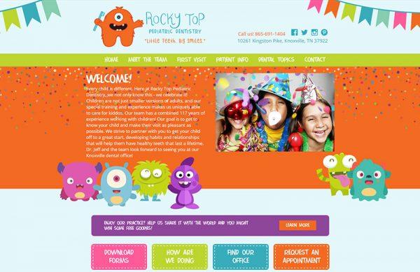 Rocky Top Pediatric Dentistry Responsive Website