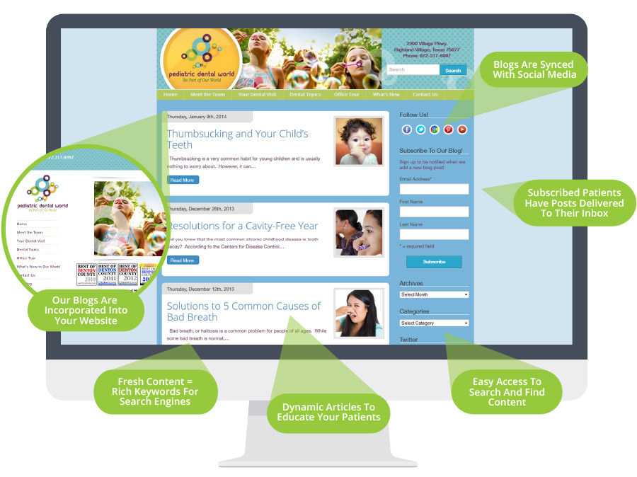 WordPress Blogs for Pediatric Dentist Websites