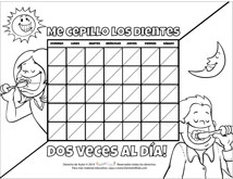 Spanish Black and White Motivational Chart for Pediatric Dentists