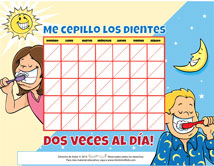 Spanish Motivational Chart for Pediatric Dentists