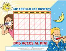 Spanish Motivational Chart for Pediatric Dentists