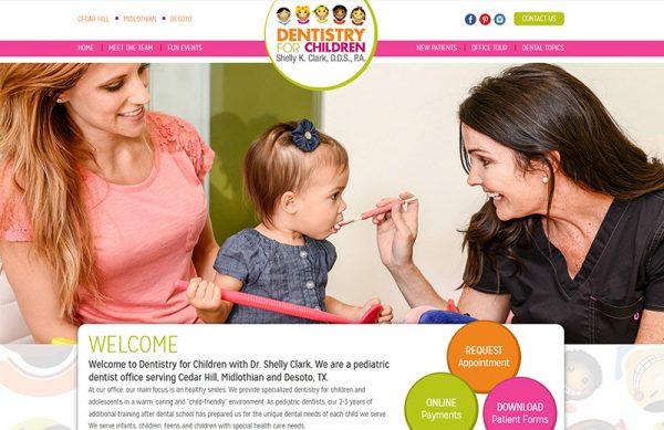 Dentistry for Children Pediatric Dentist Responsive Website