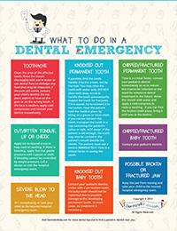Dental Emergency Poster for Pediatric Dentist Websites