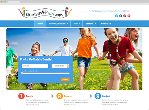 Dentists4kids.com - The World's Largest Internet Resource for Pediatric Dentistry