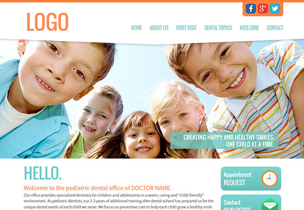 Quick Custom Website Design 22 for Pediatric Dentists