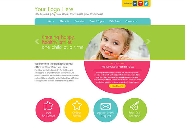 Quick Custom Website Design 24 for Pediatric Dentists
