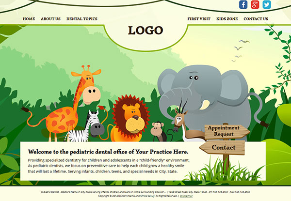 Quick Custom Website Design 25 for Pediatric Dentists
