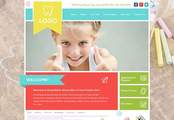 Quick Custom Website Design 26 for Pediatric Dentists