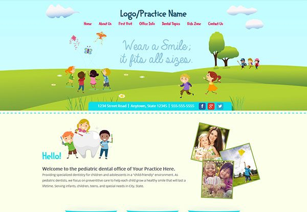 Quick Custom Website Design 27 for Pediatric Dentists