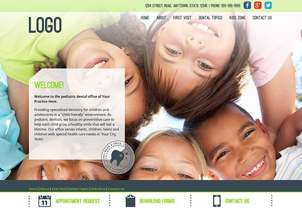 Quick Custom Website Design 29 for Pediatric Dentists