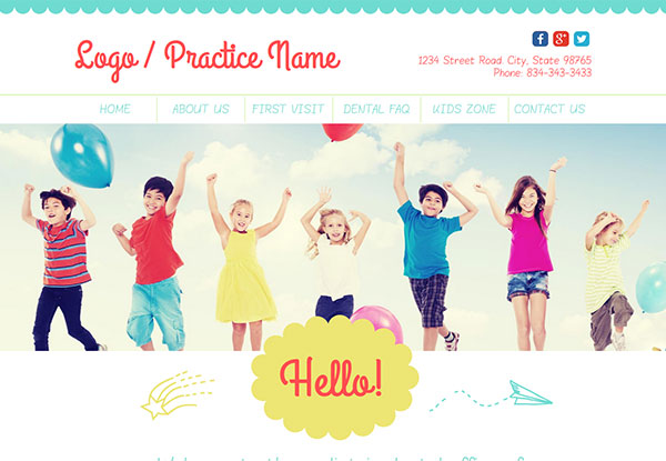 Quick Custom Website Design 30 for Pediatric Dentists