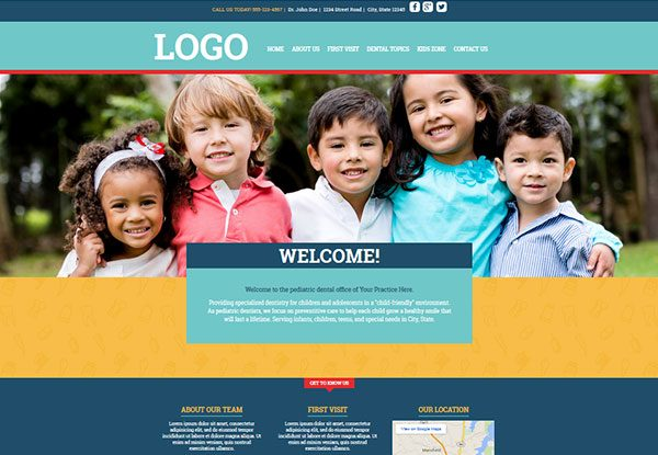 Quick Custom Website Design 31 for Pediatric Dentists
