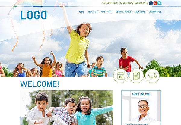 Quick Custom Website Design 32 for Pediatric Dentists