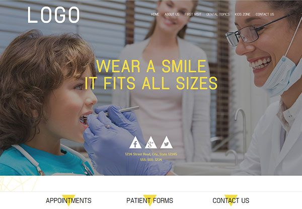 Quick Custom Website Design 35 for Pediatric Dentists