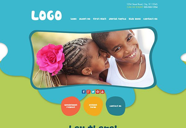 Quick Custom Website Design 37 for Pediatric Dentists