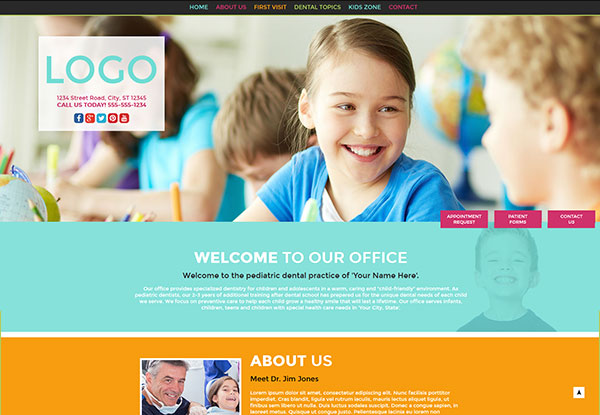 Quick Custom Website Design #38 for Pediatric Dentists
