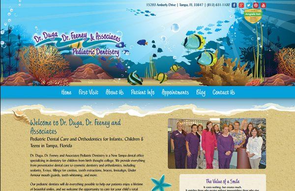 Dr. Duga, Dr. Feeney and Associates Pediatric Dentist Responsive Website
