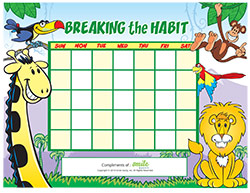 Breaking the Habit Motivational Chart for Pediatric Dentists