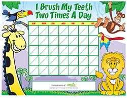 Brushing Motivational Chart for Pediatric Dentists