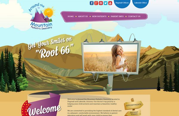Around the Mountain Pediatric Dentistry Responsive Website