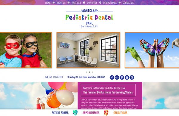 Montclair Pediatric Dental Responsive Website