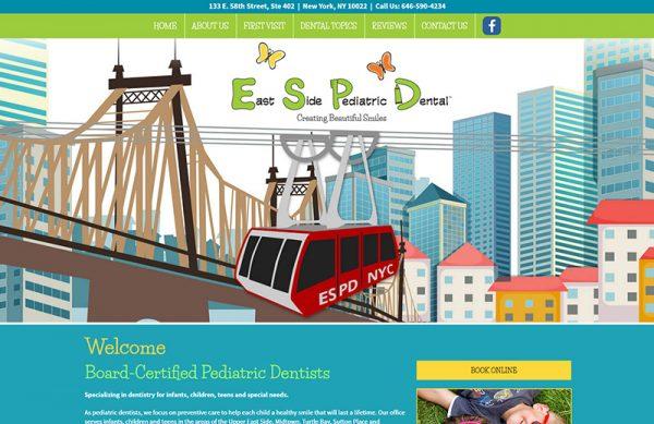 East Side Pediatric Dental Responsive Website