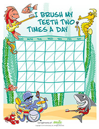 Brushing Motivational Charts for Pediatric Dentists