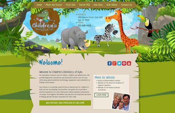 Children's Dentistry of Kyle Responsive Website