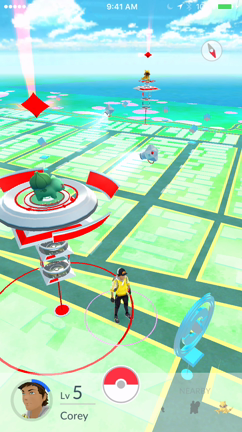 The red tower on your map is a Pokémon Gym.