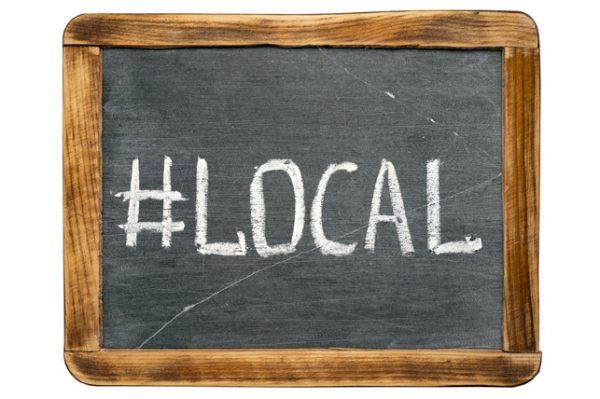 use local hashtags
