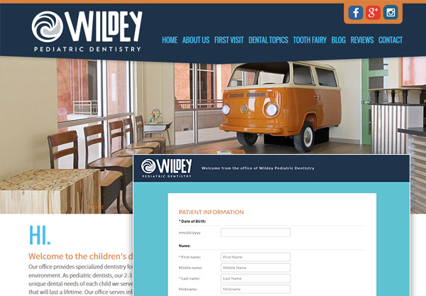 Dr. Wildey Secure Online Forms Match His Website