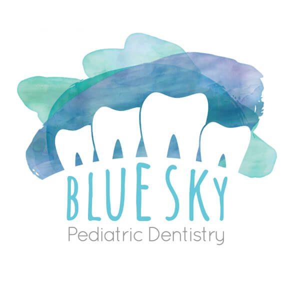 Blue Sky Pediatric Dentistry Logo Design
