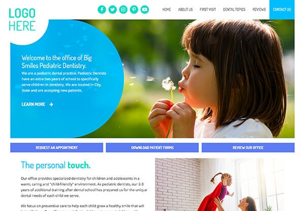 Design 41 Quick-Custom Website from Smile Savvy