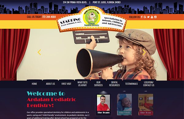 Ardalan Pediatric Dentistry - Custom Website for Pediatric Dentists