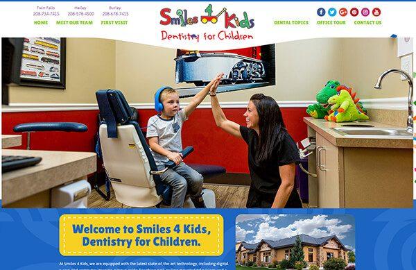Smiles 4 Kids Pediatric Dentistry - Custom Websites for Pediatric Dentists