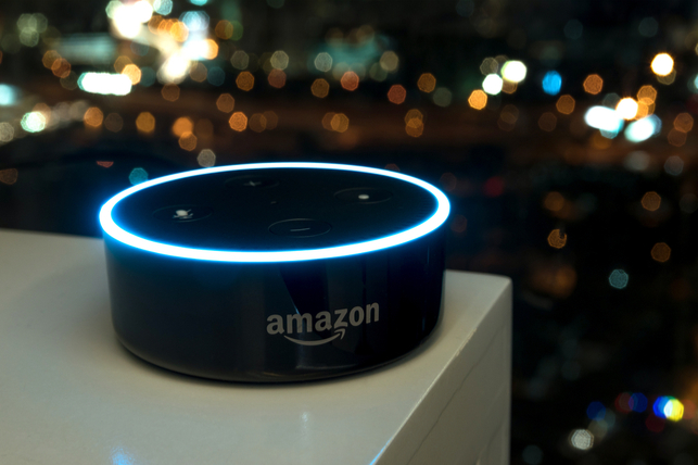 amazon echo on table