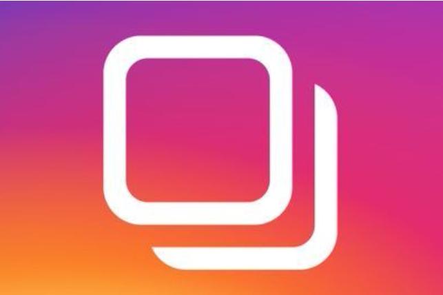 instagram slideshow button