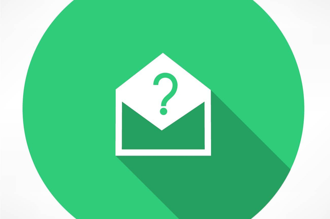 email with a question inside