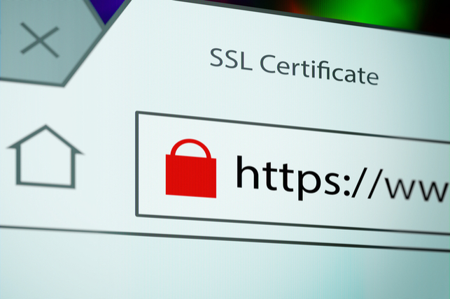 website address of an SSL-encrypted website