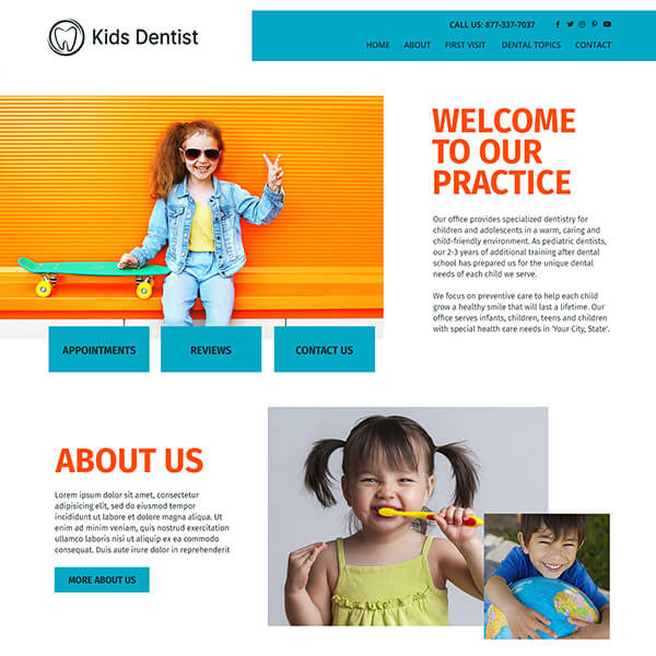 Fusion Essential Wordpress Theme for Dentists