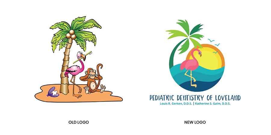 old logo next to new logo