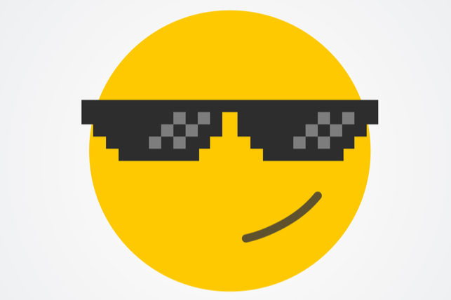 a happy face with sunglasses emoji