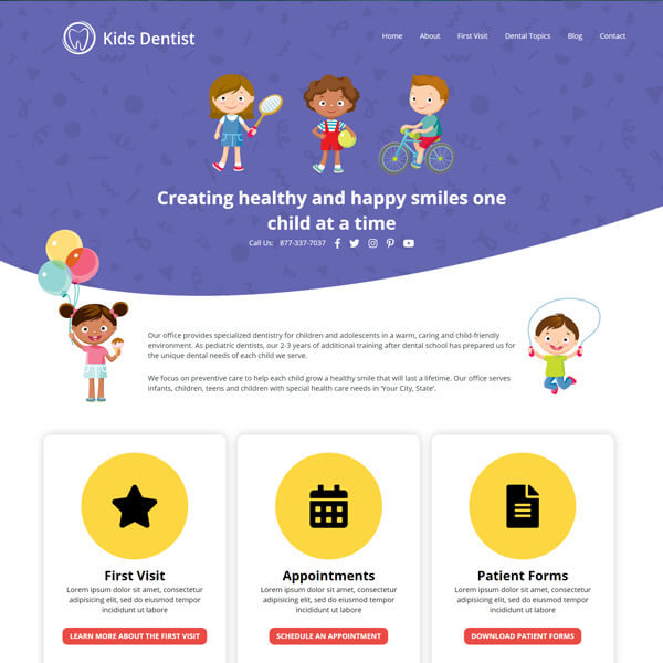 Gizmo - Essential Wordpress Website Design for Pediatric Dentists