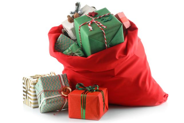 Santa's bag full of toys.
